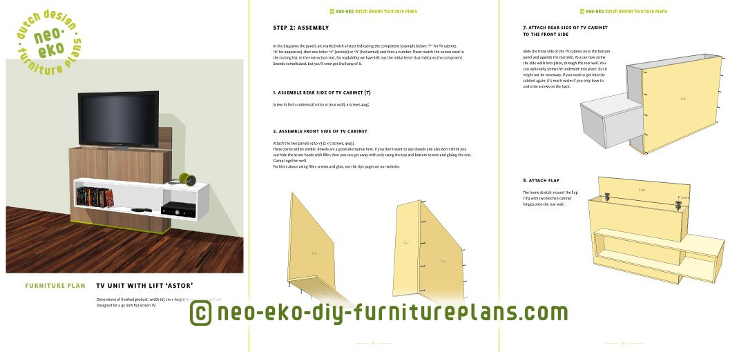 tv unit with lift diy plan preview Astor