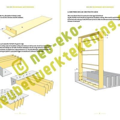 Verrassend DIY design double loft bed 'AnaXL' furniture plan YT-01