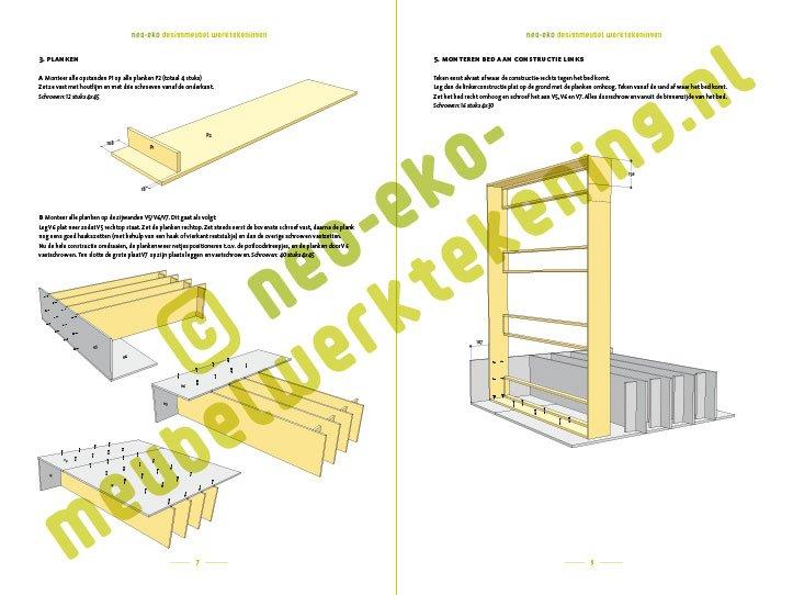 Ongebruikt DIY design double loft bed 'AnaXL' furniture plan SV-36