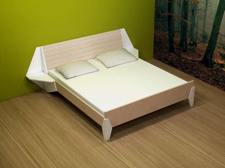 Drawing DIY plan double bed 'Hayeda'