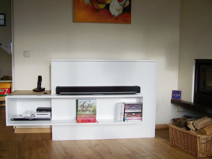 Photo DIY TV stand with lift 'Astor' by