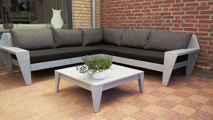 Photo DIY garden corner sofa 'YelmoXL' by