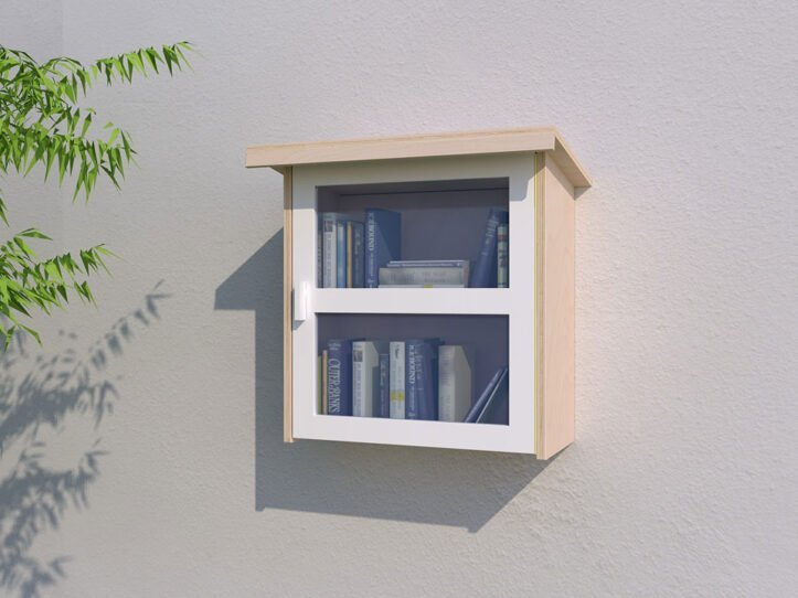Drawing DIY little free library 'Libros'