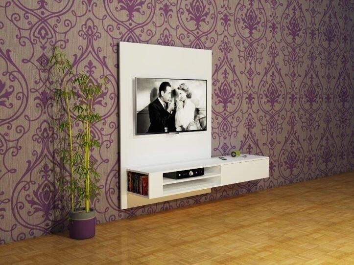 DIY hanging TV cabinet 'Jordi': Drawings, Plans