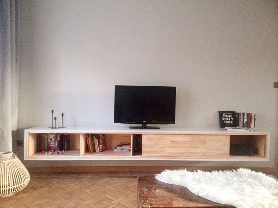 Zwevend Tv Meubel Hout.Floating Tv Cabinet Arturoxl By Wessel