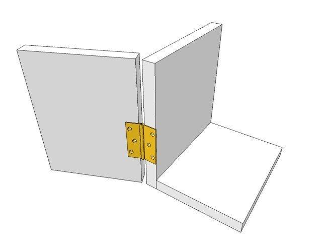 Broad style hinge-brass-overlay