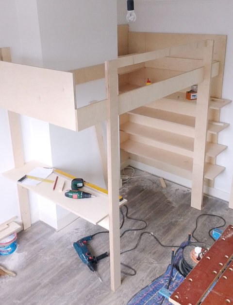 Photo DIY loft bed 'Ana' by