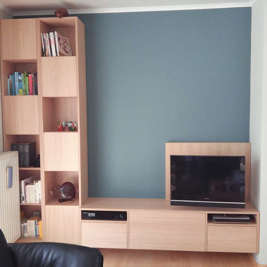 DIY hanging TV cabinet 'Jordi' made by