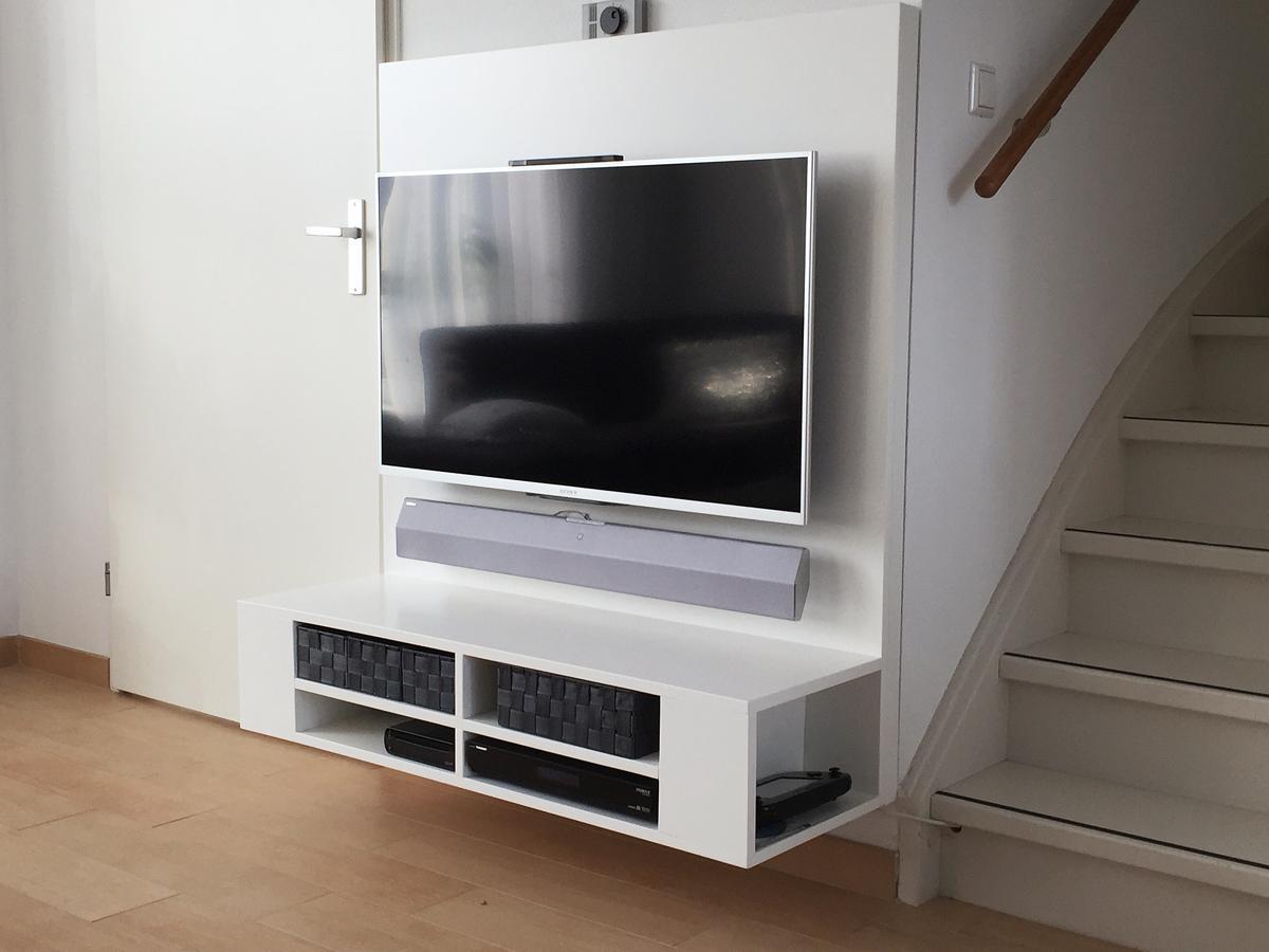 Diy Floating Tv Stand Cabinet Unit Penelope Furniture Plan
