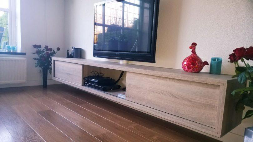 Tv Kast Wit Modern.Diy Furniture Plan Floating Tv Cabinet Arturo For Plywood Or Mdf