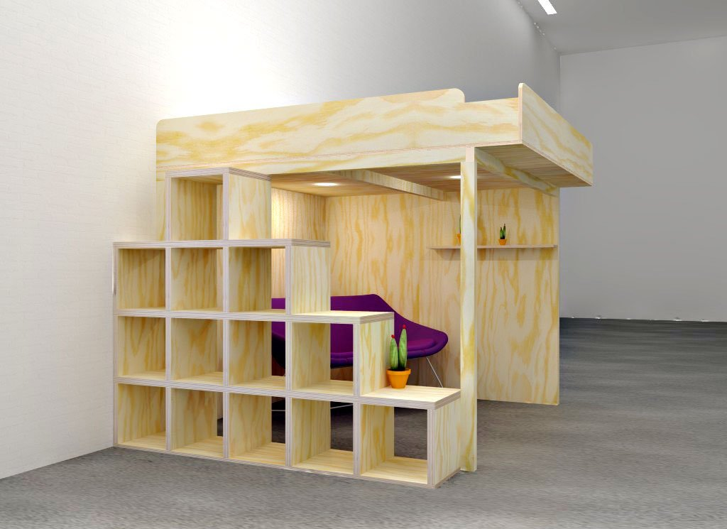 Picture of: Diy Building Your Own Two Person Loft Bed Furniture Plan With Step For Step Manual