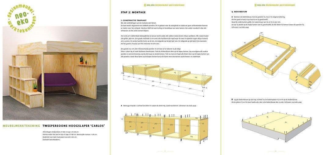 Furniture plans 2-person loft bed Carlos