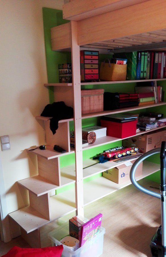 DIY Double loft bed AnaXL by Sitske-d-G, Design Neo-Eko