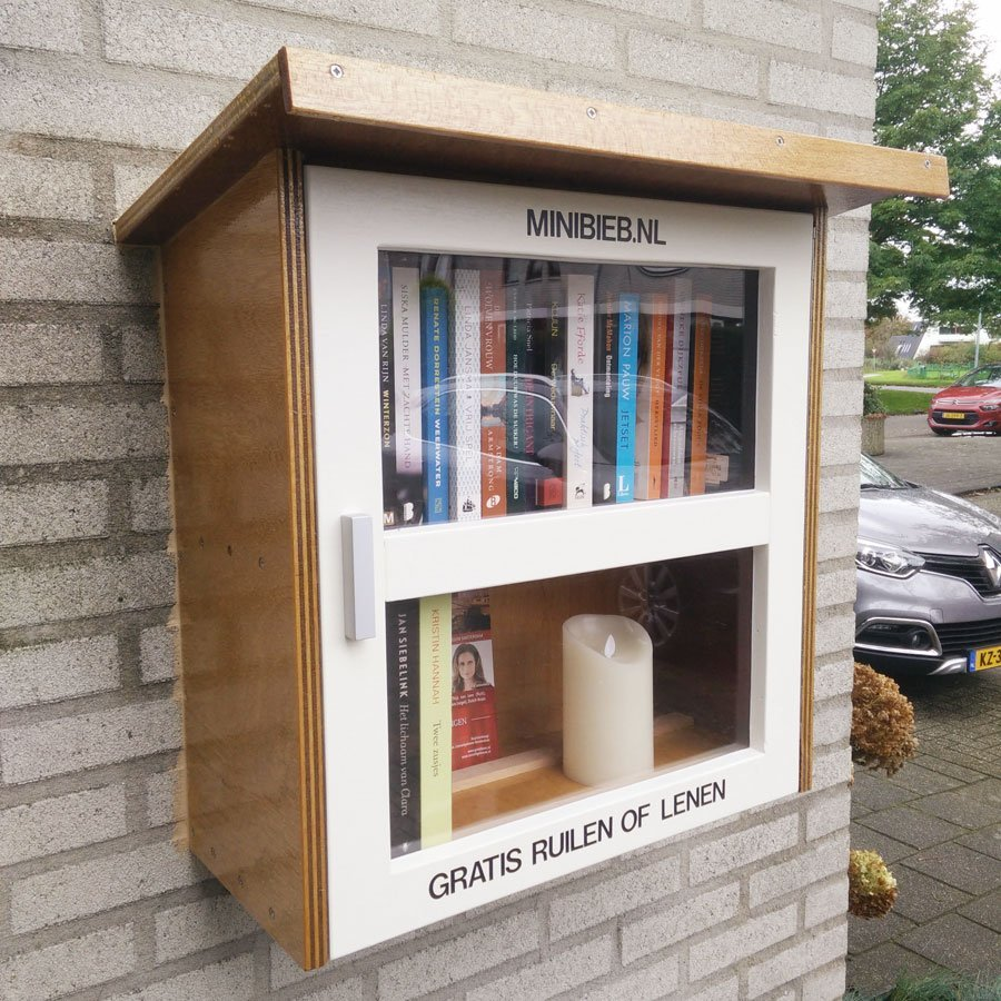 DIY free little library-Libros, Design by neo-Eko-by Rob-v-B