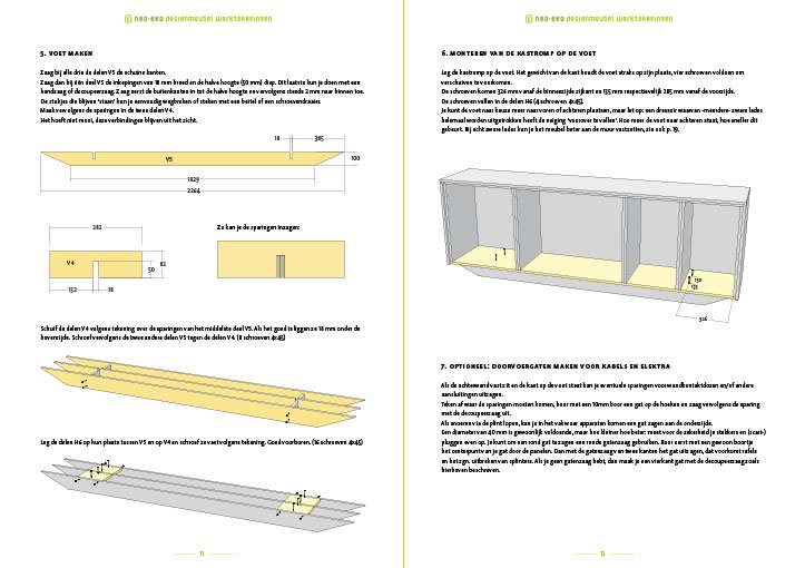 DIY Dressoir-sideboard-Amado-Design by Neo-Eko Preview plans 2pages