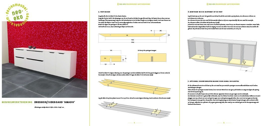 DIY Dressoir-sideboard-Amado-Design by Neo-Eko Preview plans 3 pages
