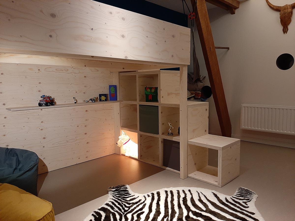 DIY-Loft bed -Carlos- by Pieter, ontwerp, tekeningen en handleiding door Neo-Eko-meubelwerktekening