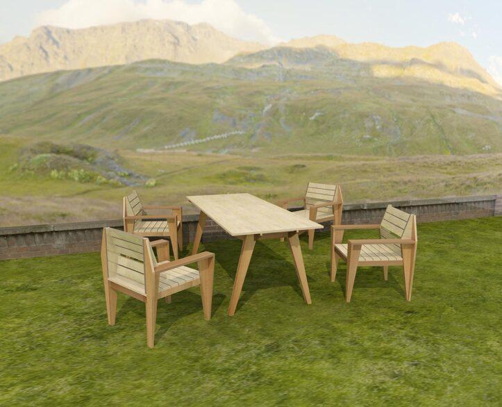 Furniture plan: gardenset Cotiella diy